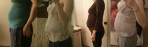 My Belly from 23 weeks to 32 weeks